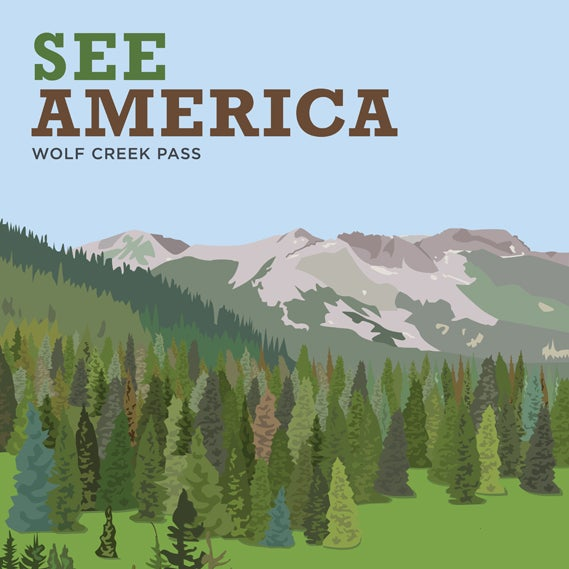 Image of See America Print- Wolf Creek Pass