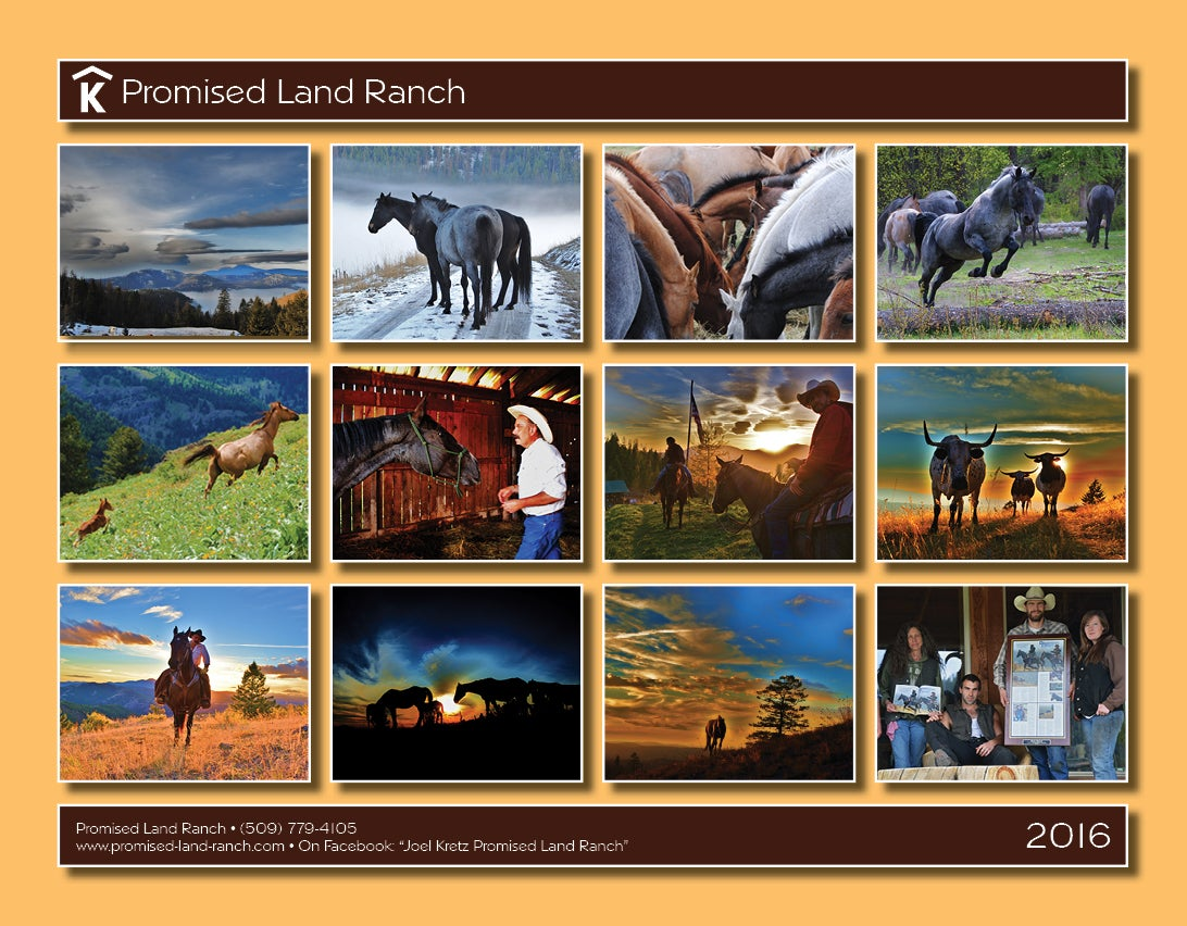 Art Handler Calendar : Joel kretz art — promised land ranch calendar