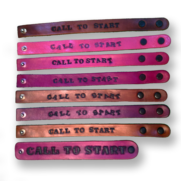 Image of Leather Snap Wristbands