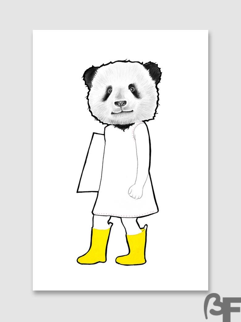 "Image of Ilustración Panda serie ""Doble animal"" / Illustration Elephant series ""animal Double"""