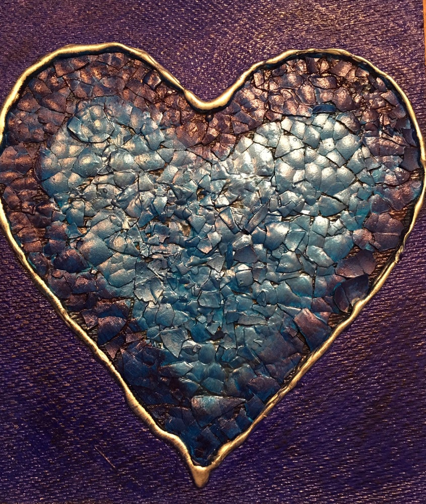 Image of Egg Shell Art - The Happy Heart Collection - Blue