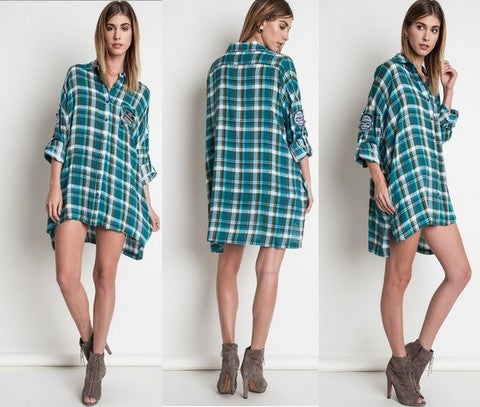 Image of Preppy Plaid Button Up