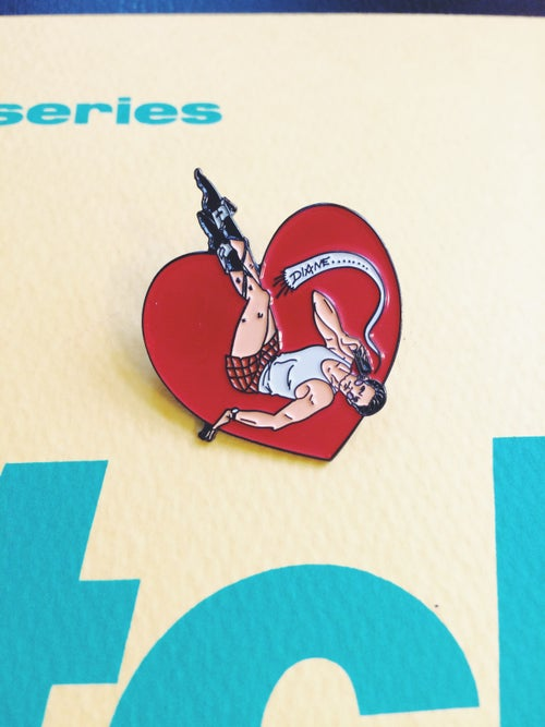 """Image of Special Agent Dale Cooper """"Diane"""" pin-up enamel pin"""