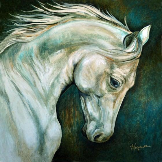 """Image of NEW!          """"White Stallion"""" Gicleé"""