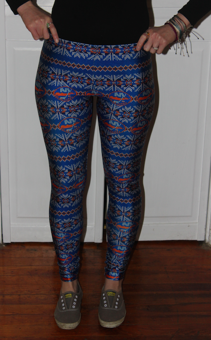 Image of FAIR ISLES GIRLS LEGGINGS/YOGA PANTS