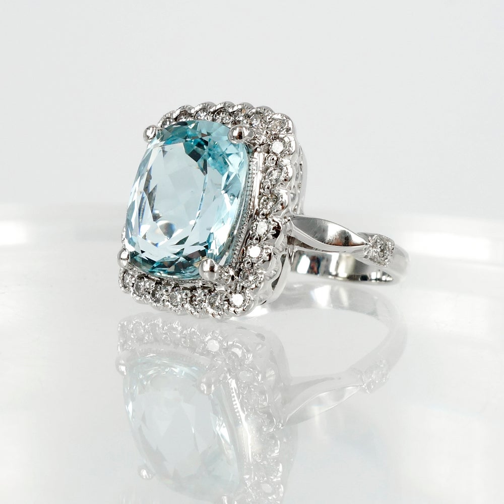Image of Aquamarine Cocktail Ring