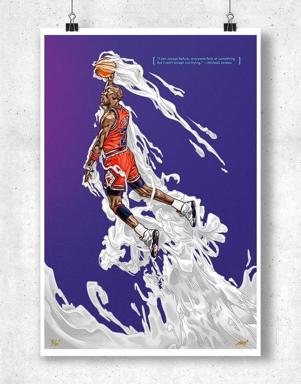 """Air Jordan """"Hang Time V"""" Poster - Bam! Bam! Bam!"""