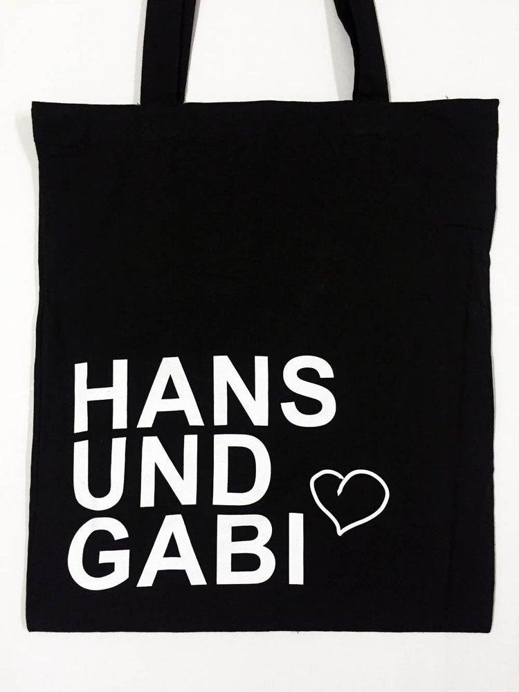 Image of Hans und Gabi Stoffbeutel schwarz