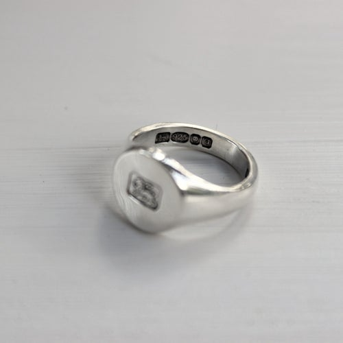 Image of men's signet ring with 'lion stamp'