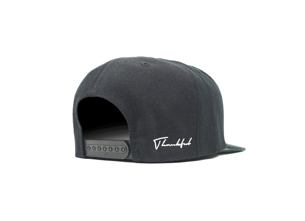 Image of BIG T HAT (WHITE ON BLACK)
