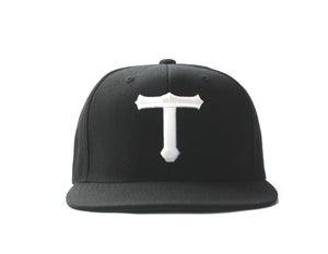 Image of BIG T HAT (WHITE ON BLACK)