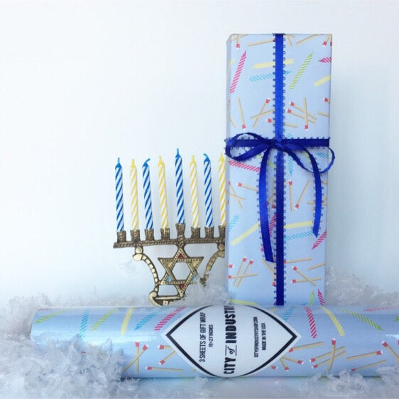 Image of Candles Gift Wrap