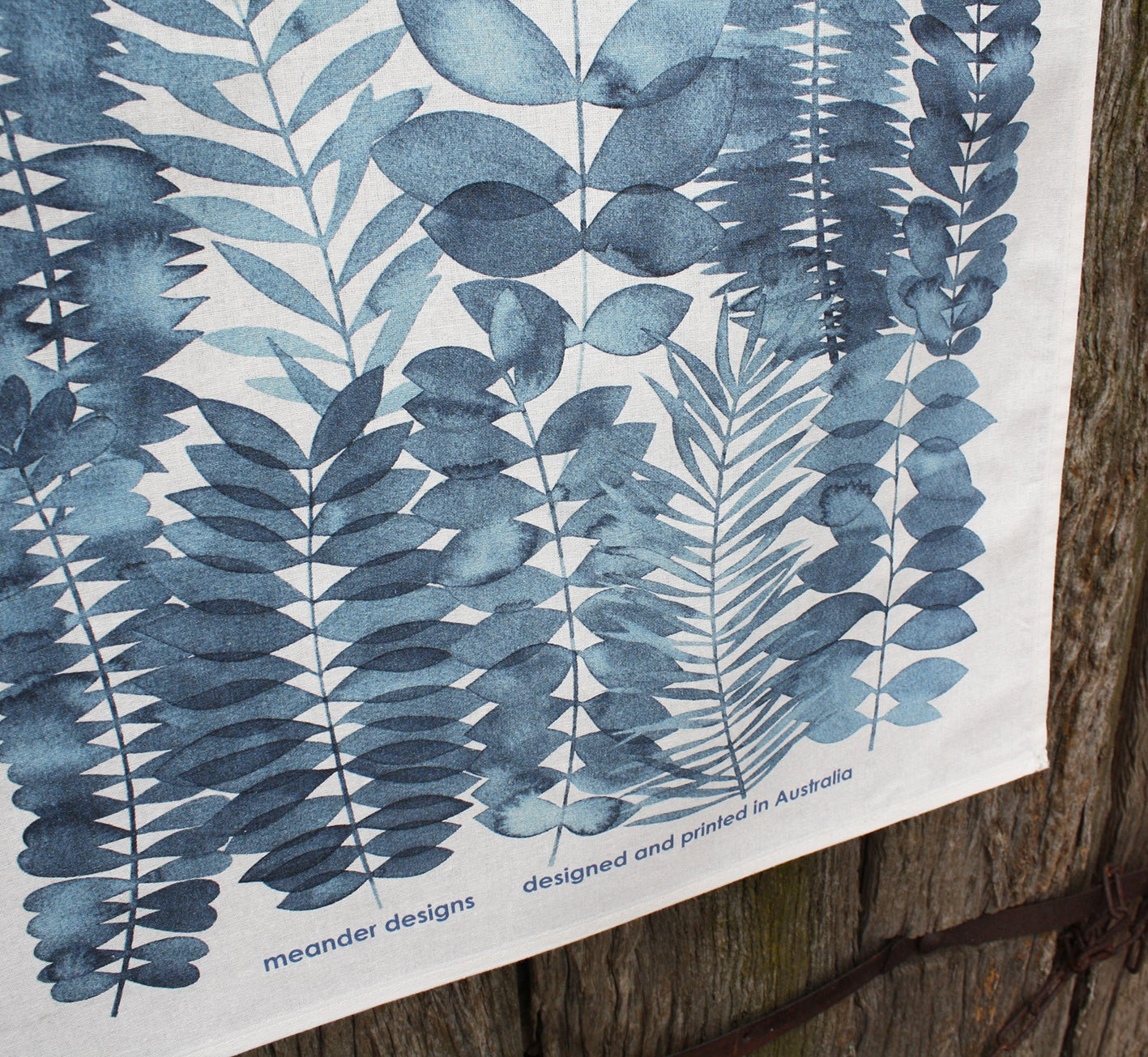 Image of Indigo Garden Printed Tea Towel