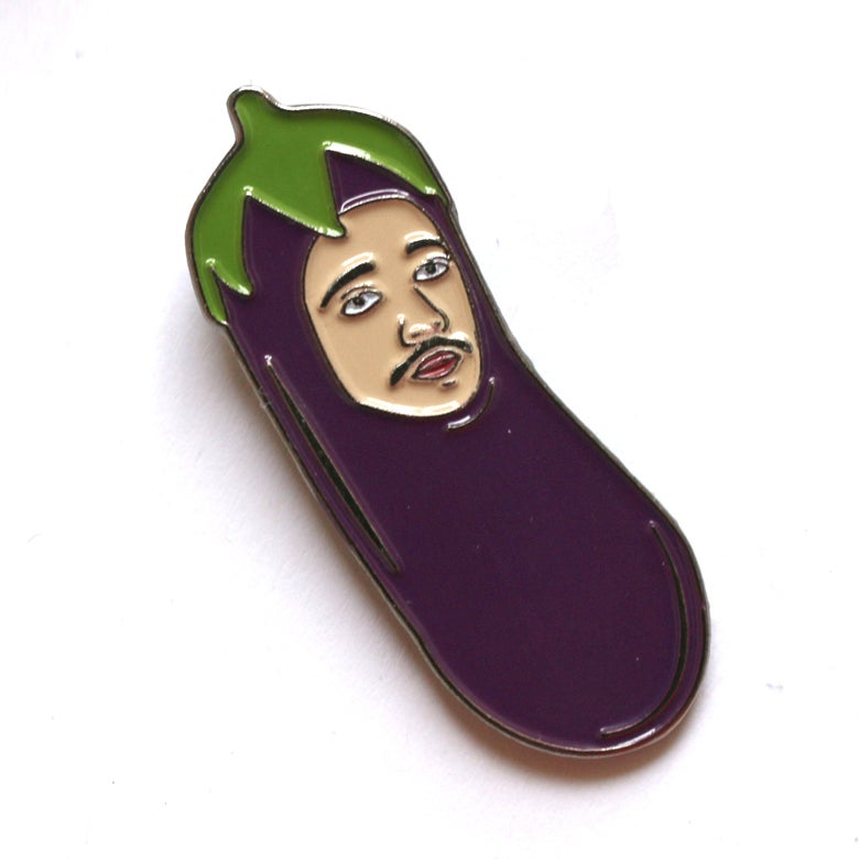 Image of ChiliPhilly Pin Series #3: Eggplant Hat