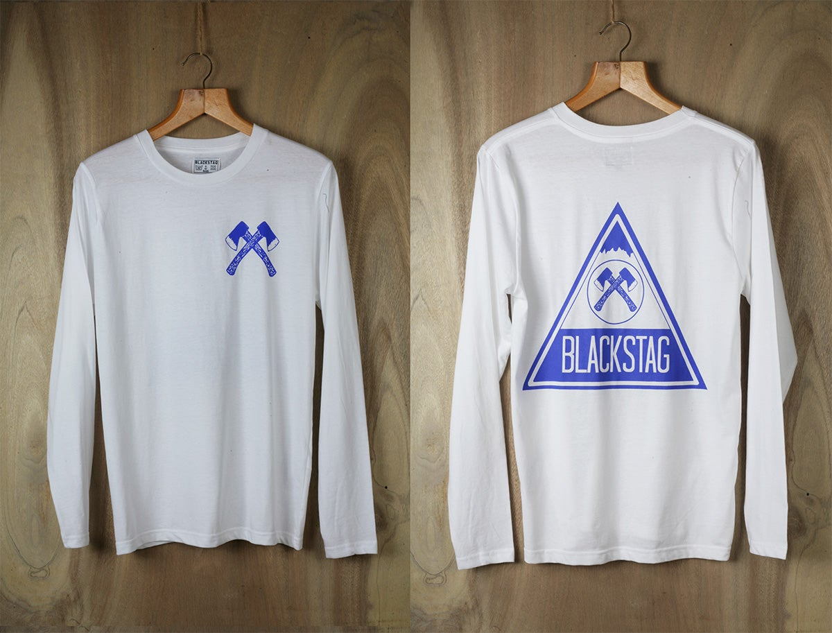 Blackstag clothing blue mountain long sleeve t shirt for Mountain long sleeve t shirts
