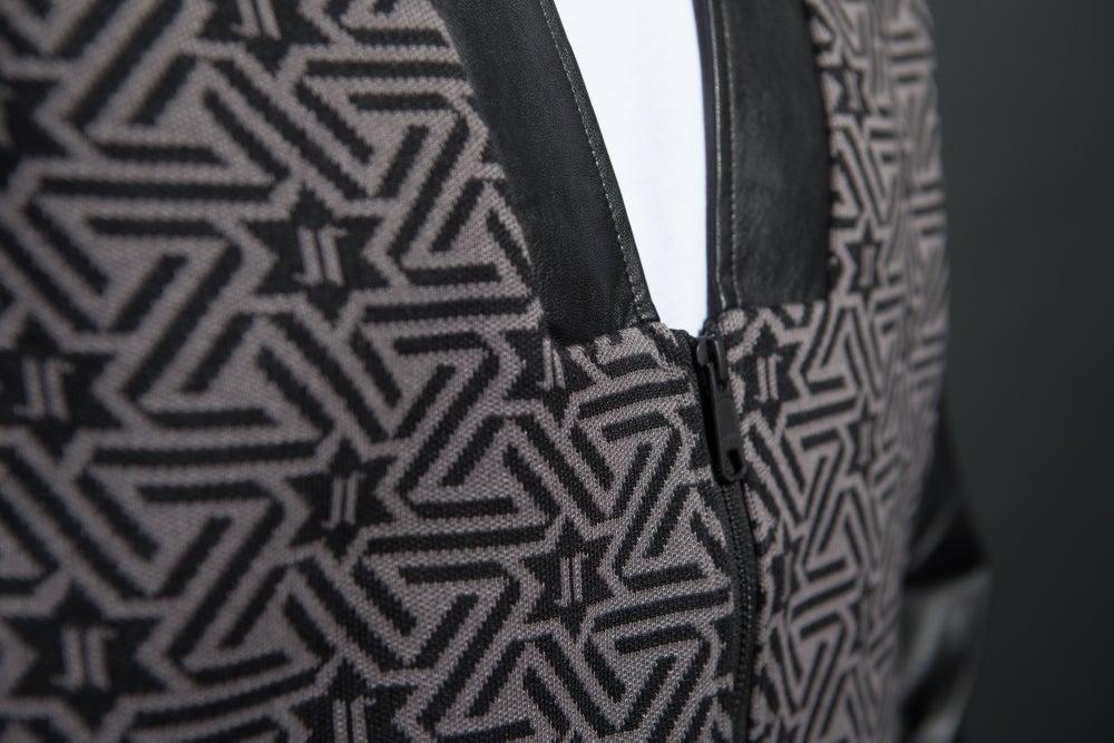 Image of David Leather Cardigan