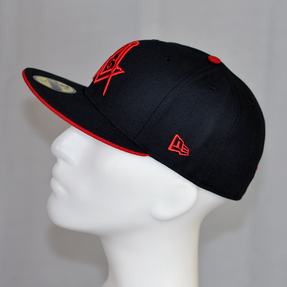 Image of New Era 59Fifty Black - Scarlet with G fitted