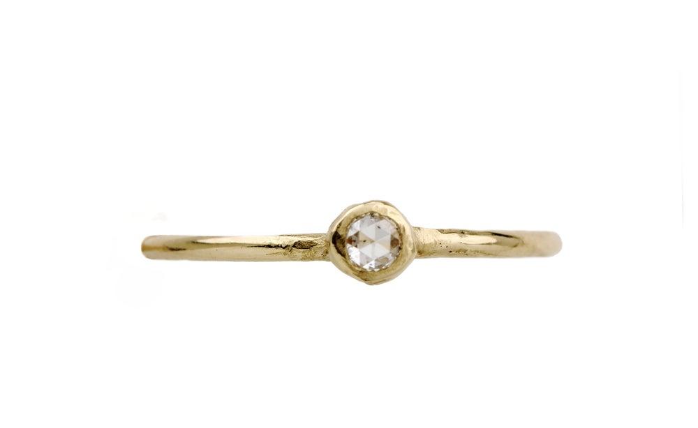 Image of Tiny engagement ring. Rose cut diamond. Friday