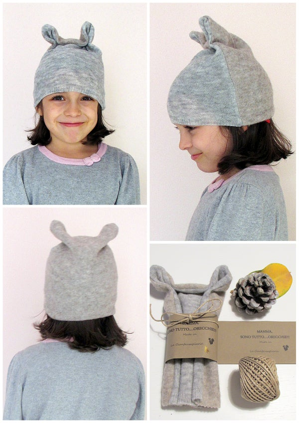 Image of Berretto scoiattolo con orecchie- Squirrel hat