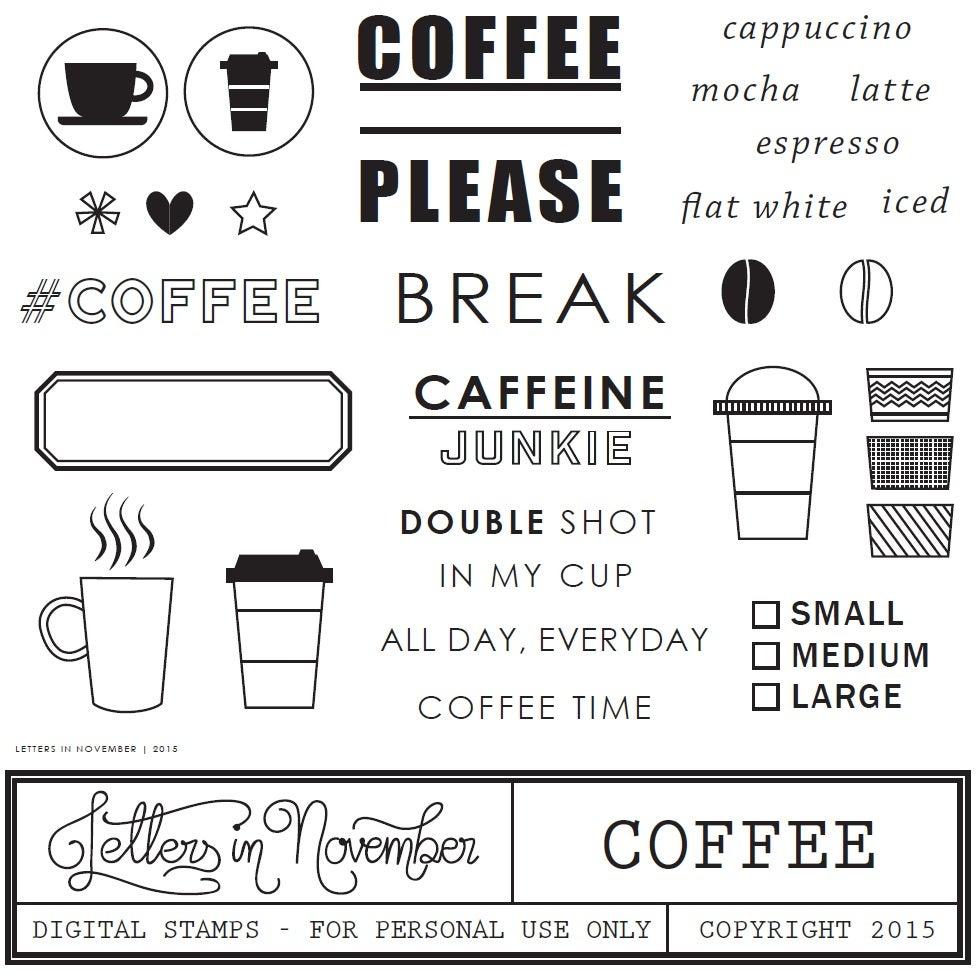 Image of Coffee Digital Stamp
