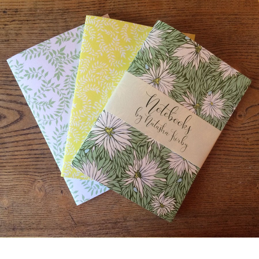 Image of A5 Notebooks - Set of 3 - Love in a Mist