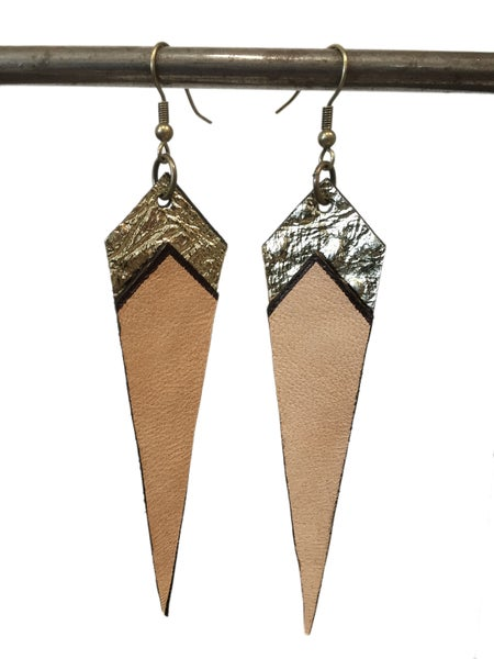 Image of Leather flag earrings