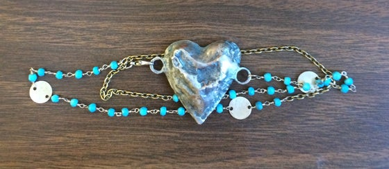 Image of Heart Wrap Bracelet/Necklace