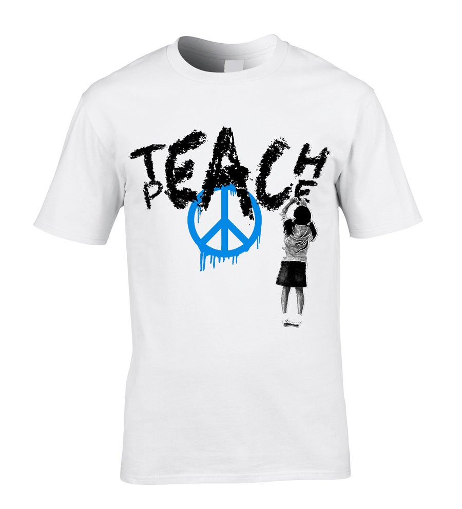 "Image of ""TEACH PEACE"" T-SHIRT"