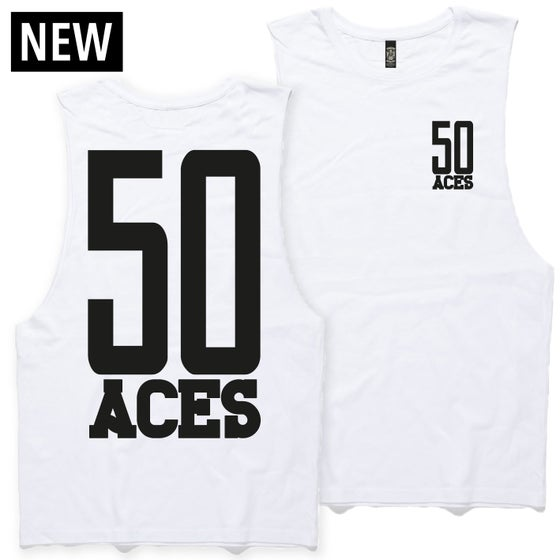 Image of FIFTY ACES BALLERS TANK TEE WHITE