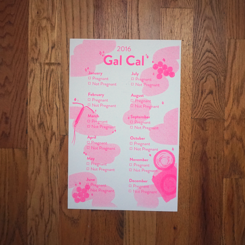 Image of 2016 Gal Cal Planned Parenthood Calendar