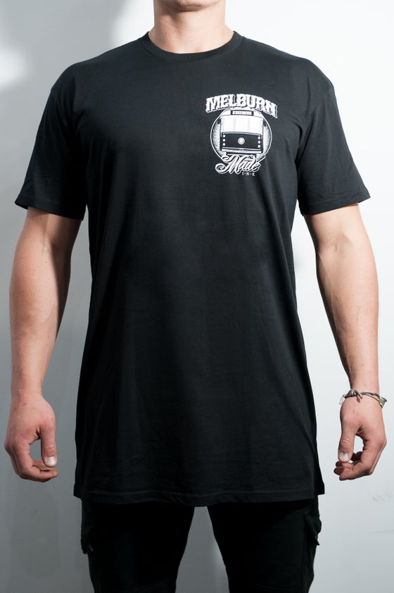 Image of Melburn Made Tram Tee Tall Fit Black