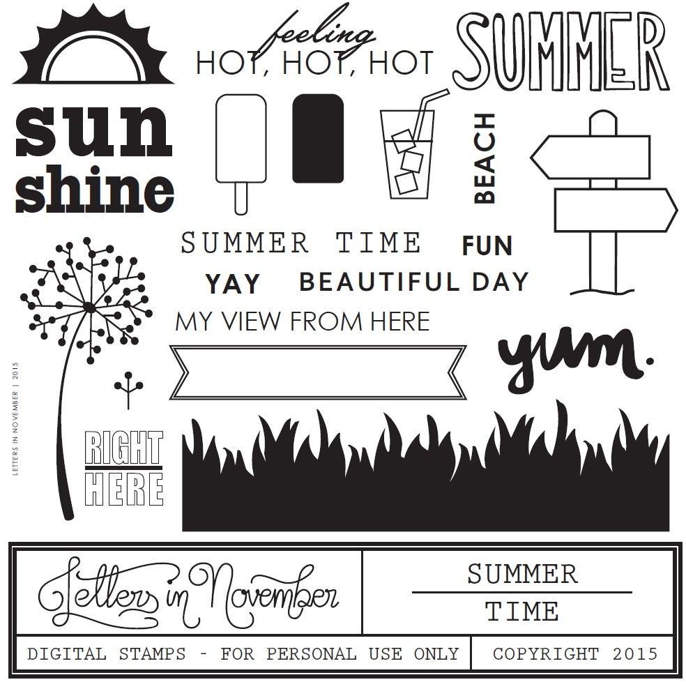 Image of Summer Time Digital Stamp