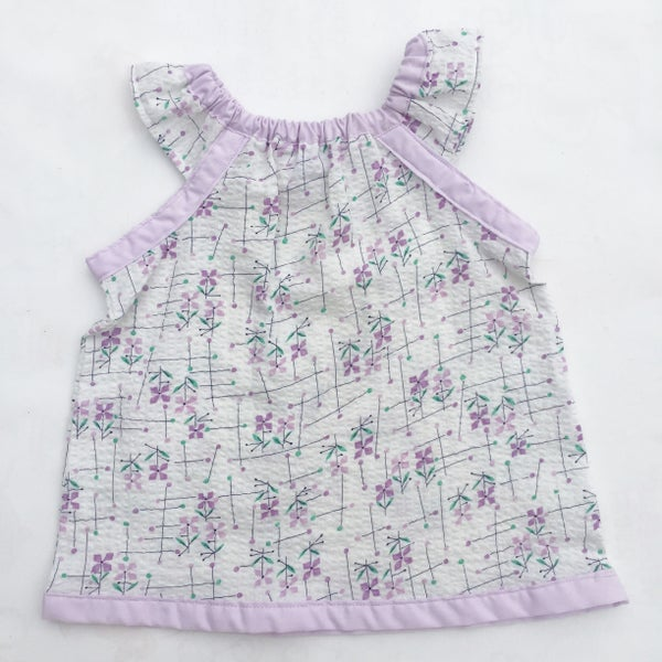 Image of Vintage dress/top - size 12mths - lilac abstract floral