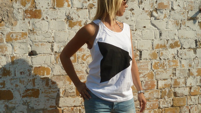 "Image of Tank ""play with me"", unisex, weiß"