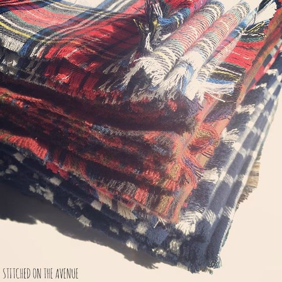 Image of Plaid Tartan Blanket Scarves