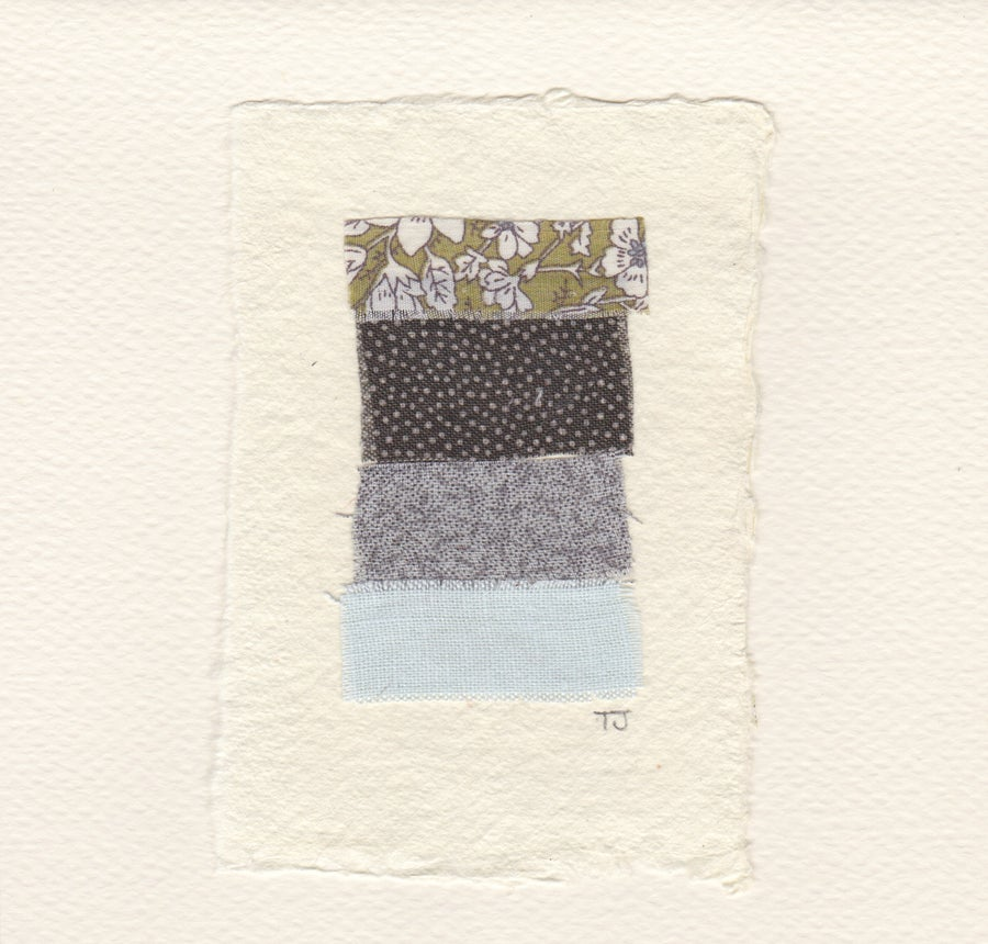 Image of Fabric Collage Cards - Strip