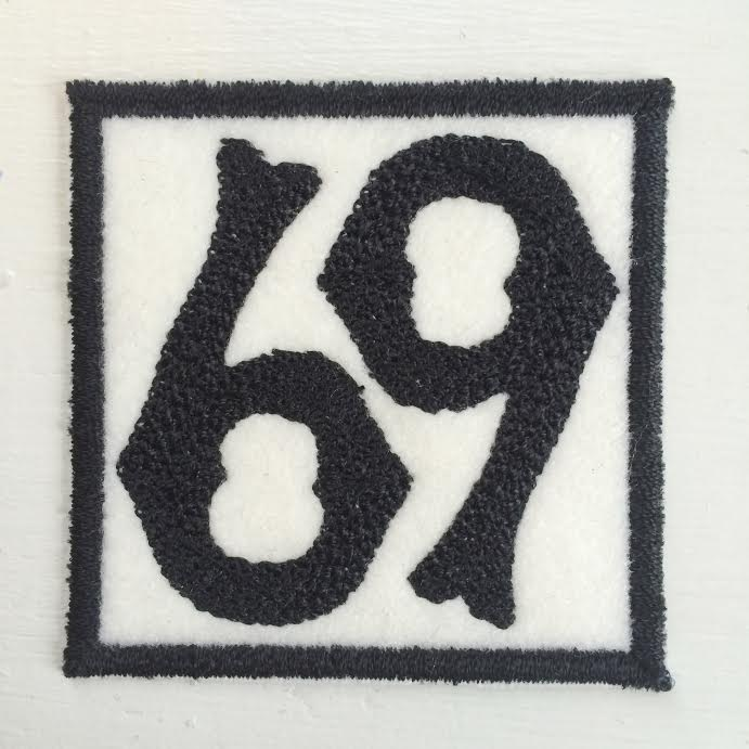 Image of 69 Chain Stitched Patch