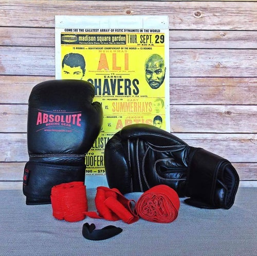Image of Boxing Training Gloves (Black or Red)