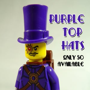 Image of Purple Top Hats - only a few available