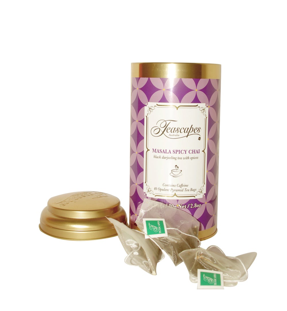 Image of Masala Spicy Chai, Opulent Pyramid Tea Bags