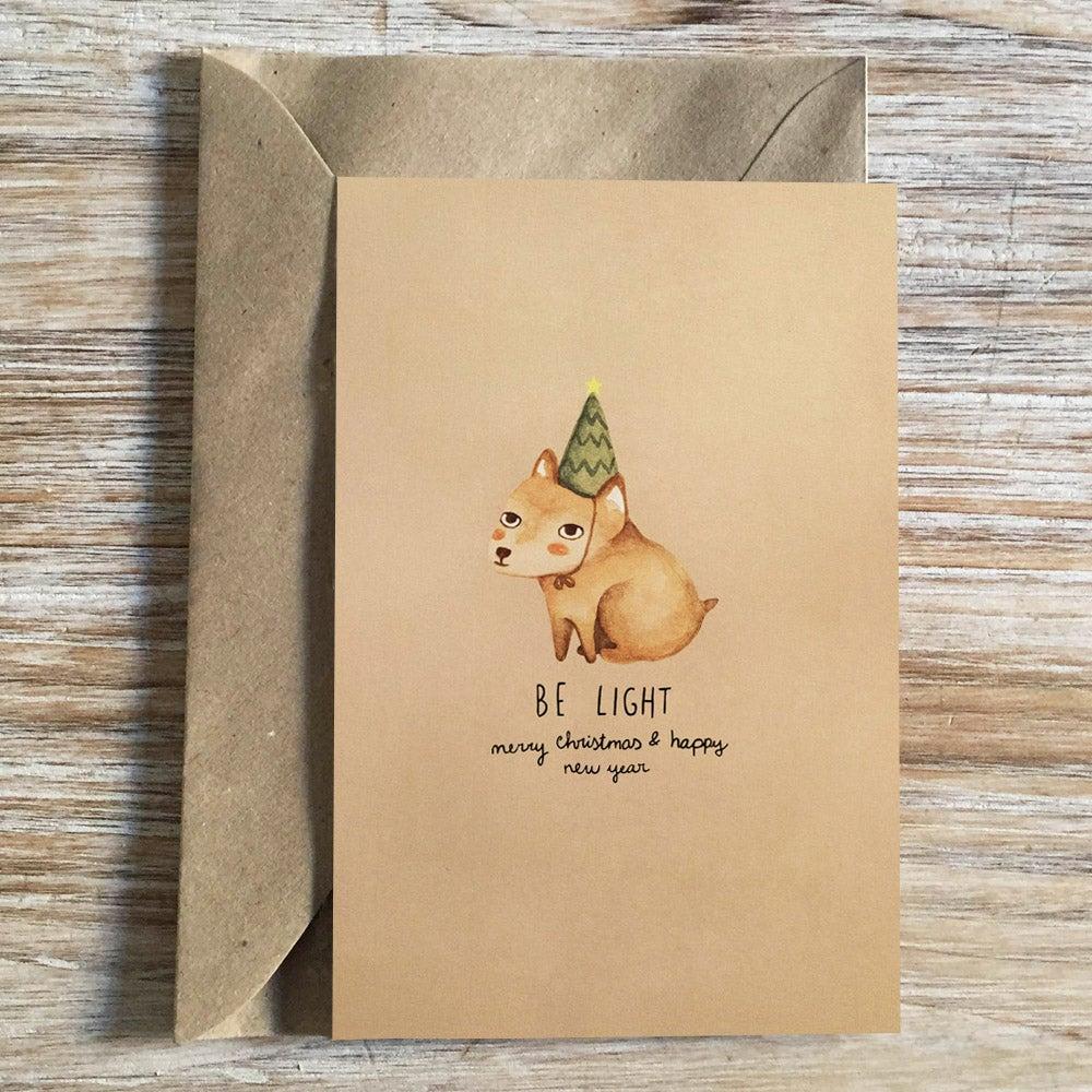 """Image of XMAS CARD """"be light"""""""
