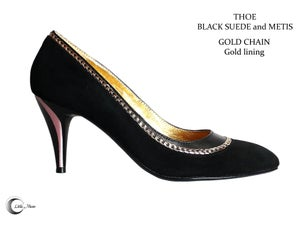 Image of THOE Noir Suède/ Or - Black/Gold