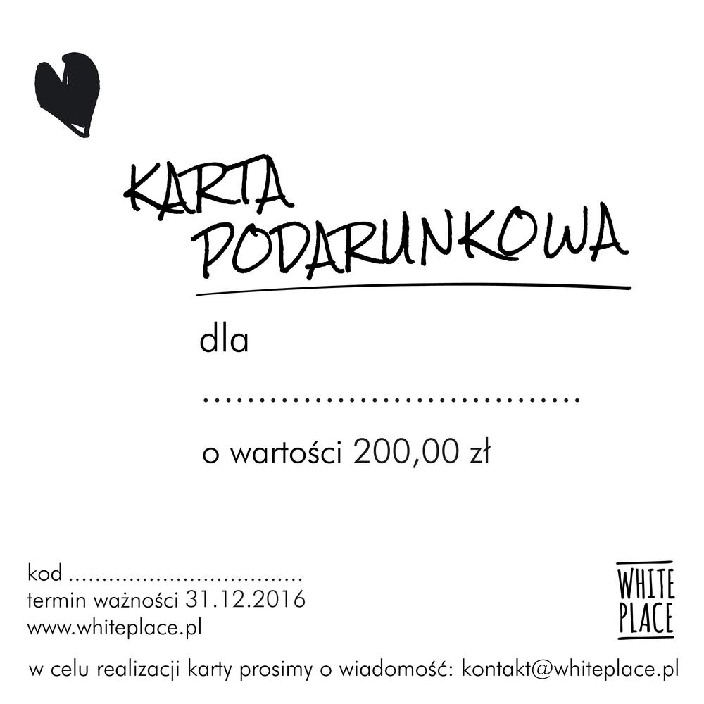 Image of karta podarunkowa / 200,00 zł