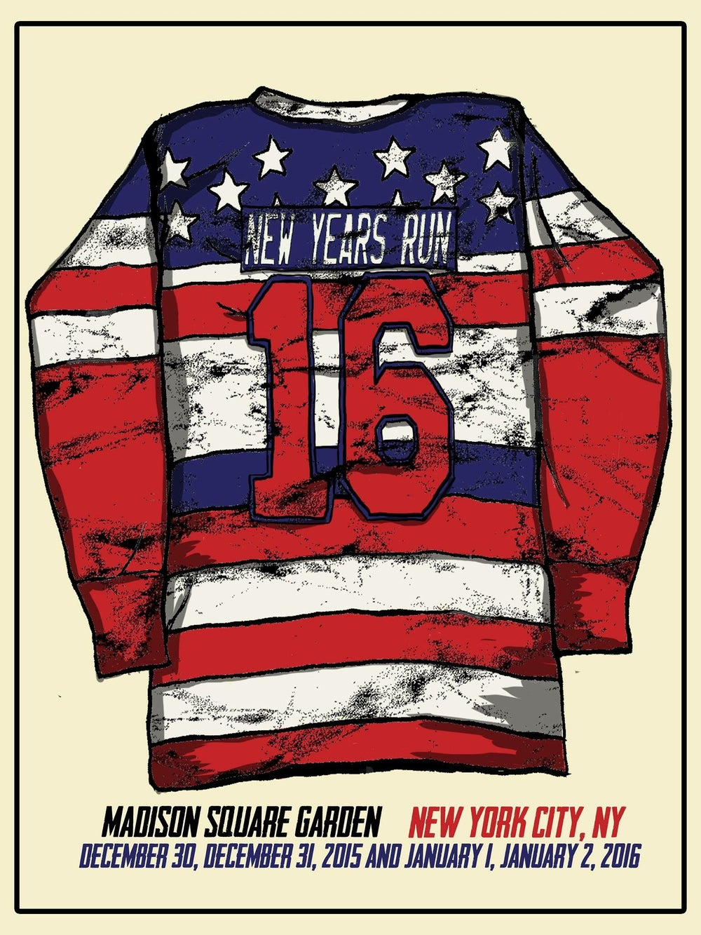 Image of New York Americans NYE MSG print