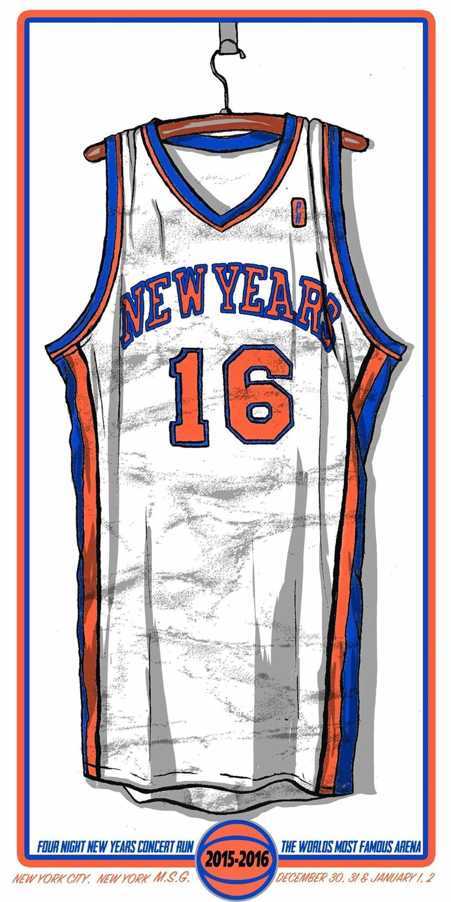 Image of New York Knicks NYE MSG print