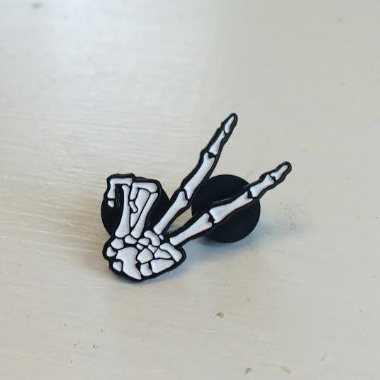 Image of SUPPORT GOOD VIBES Enamel pin