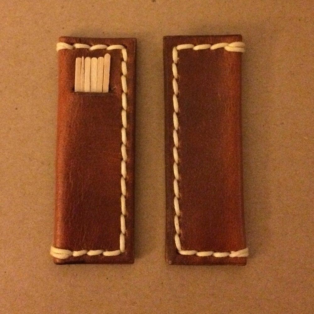 Leather toothpick holder james good life leather co - Toothpick pocket holder ...