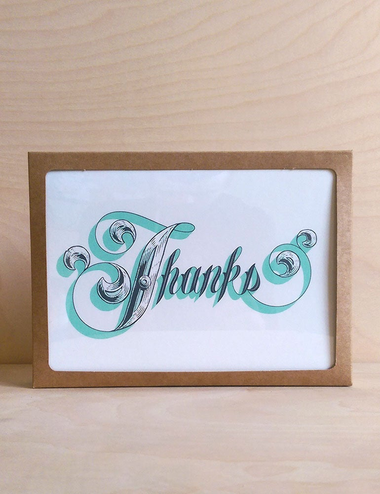 Image of Pack of 6: Thanks Card