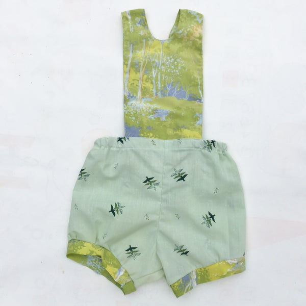 Image of Baby Romper - size 12-18months - green birds