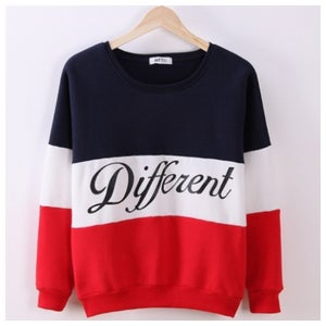 Image of Color Block Different Sweater